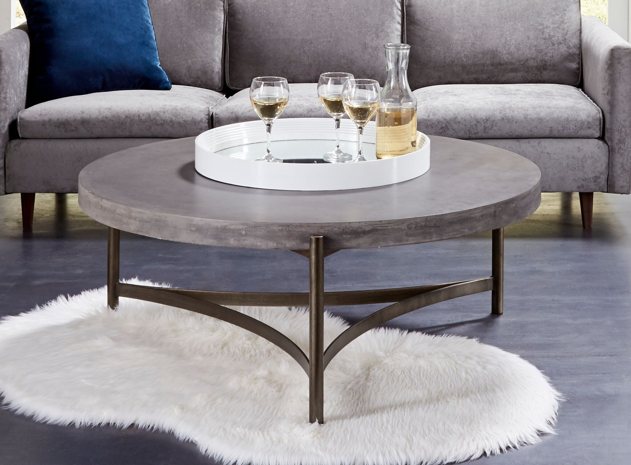 Looking For A Penthouse View Without The Penthouse Price If You Ve Got Expensive Taste You Re Going To Concrete Coffee Table Coffee Table Round Coffee Table [ 1510 x 2048 Pixel ]