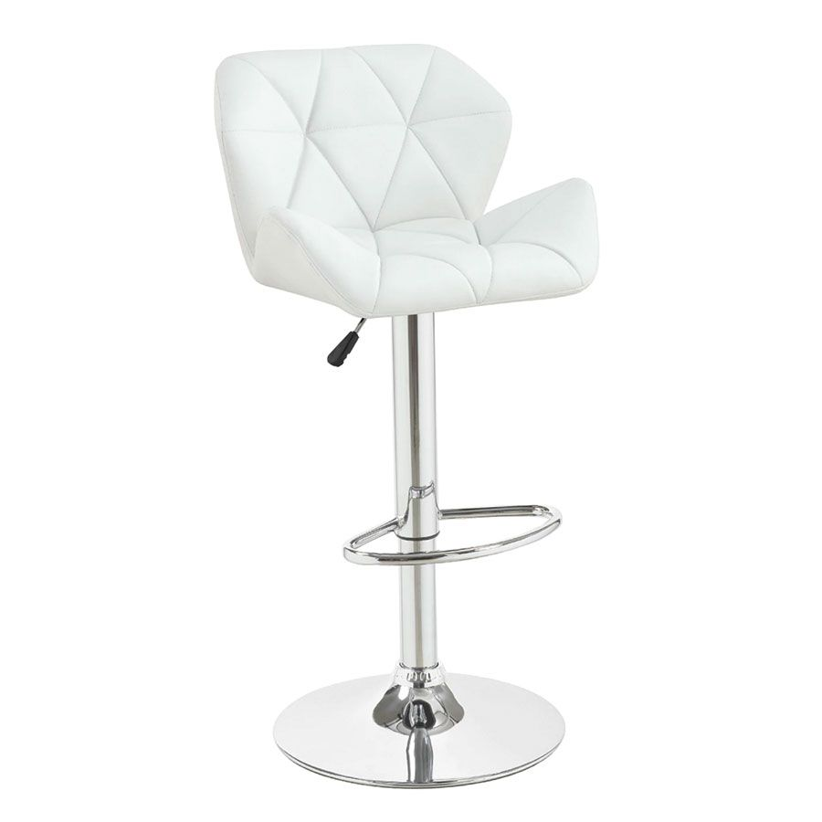 Incredible Lux Tufted Vanity Stool In White Vanity Adjustable Bar Bralicious Painted Fabric Chair Ideas Braliciousco