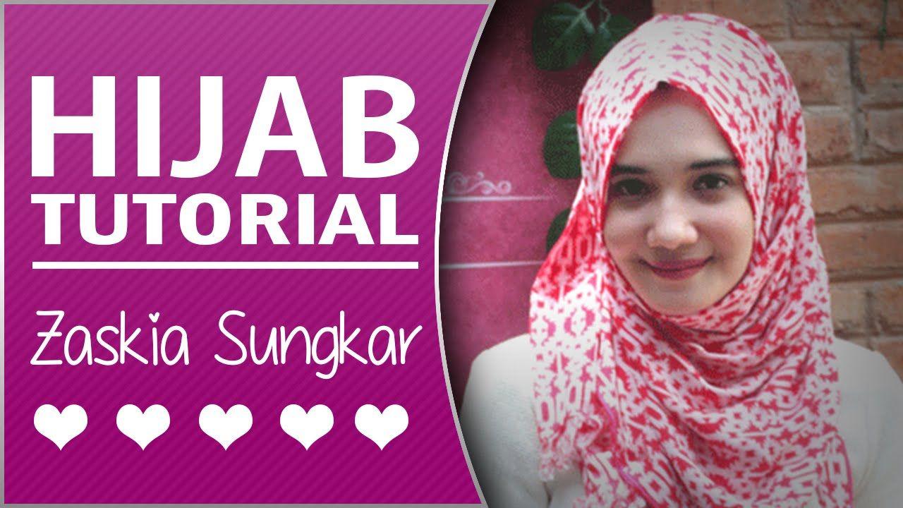 Tutorial Hijab Pashmina Ala Zaskia Sungkar Hijab Tutorial