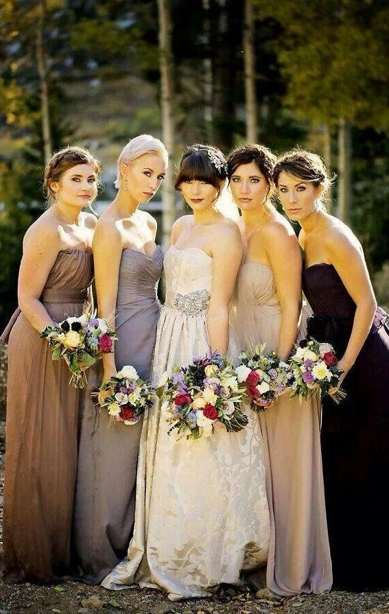 Images of fall color bridesmaid dresses