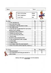 English Worksheet End Of Term Self Evaluation  Esl
