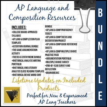 Ap Language And Composition Bundle Ap Language And Composition