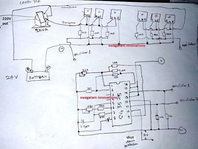Sg3525 Pure Sinewave Inverter 2000 Watts Circuit Diagram Circuit Projects Electronic Circuit Projects