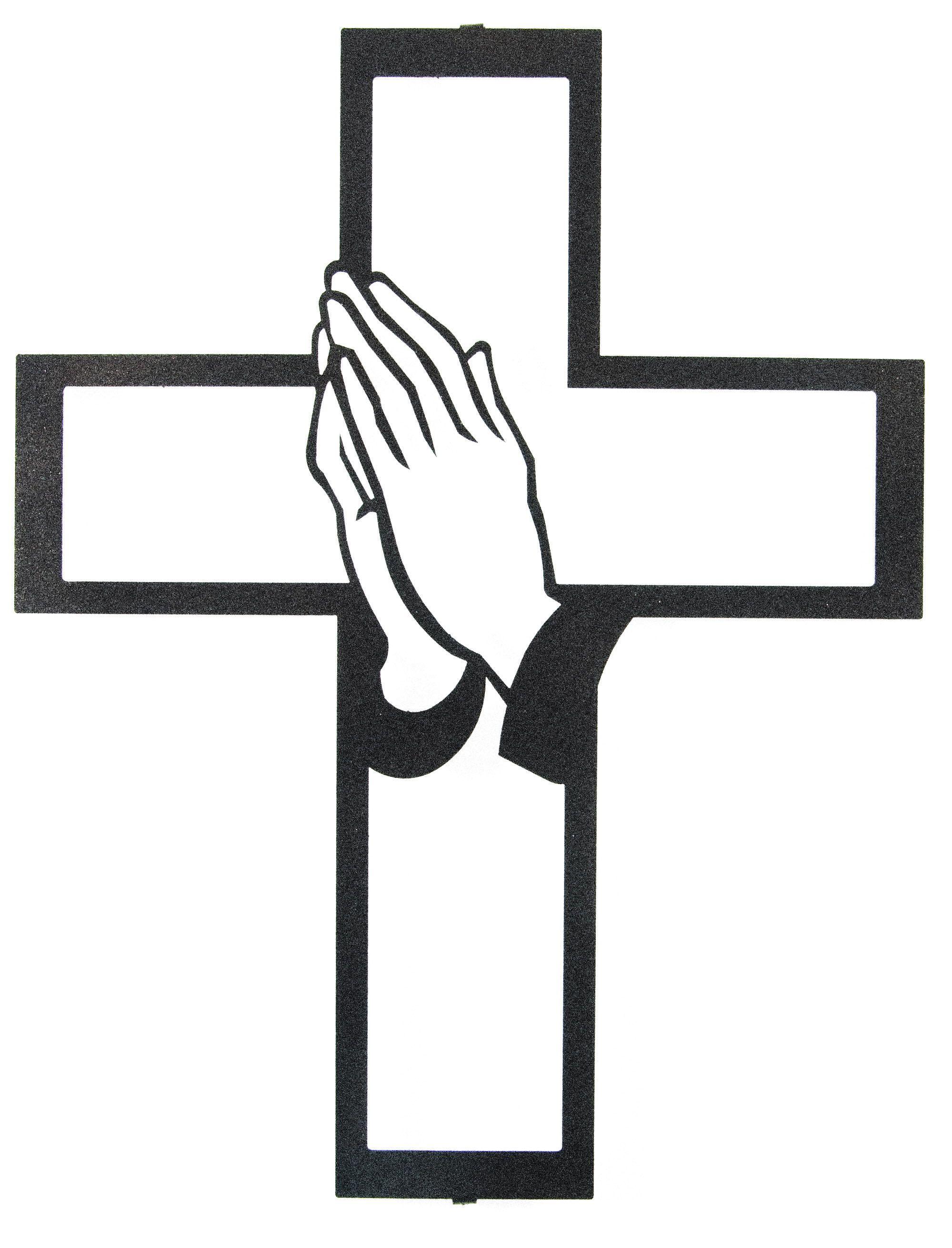 Praying Hands Cross Praying Hands Hand Silhouette Clip Art