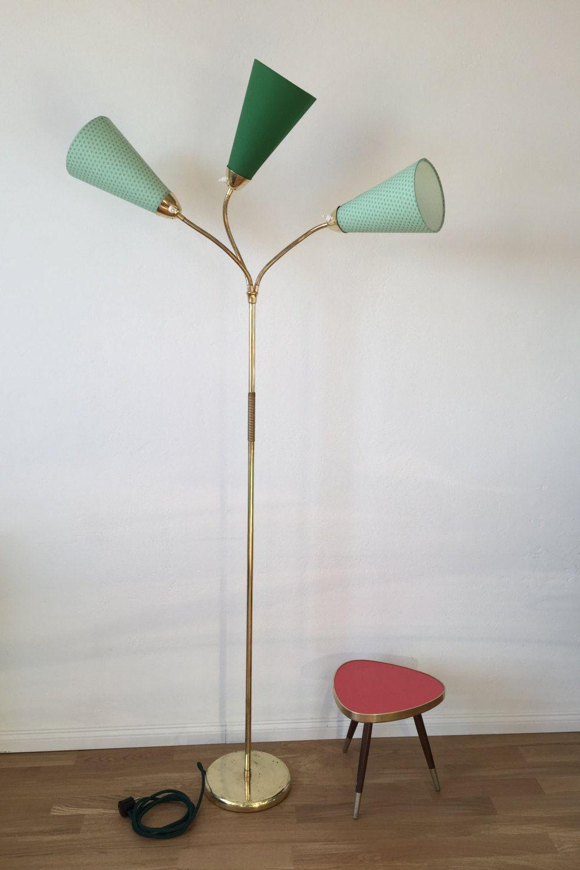 50er Jahre Tutenlampe Komplett Aufbereitet Stehlampe 50s Rockabilly Nierentisch Flurlampe Leselampe Von Mehrschein Auf Etsy Lamp Vintage Lighting Home Decor