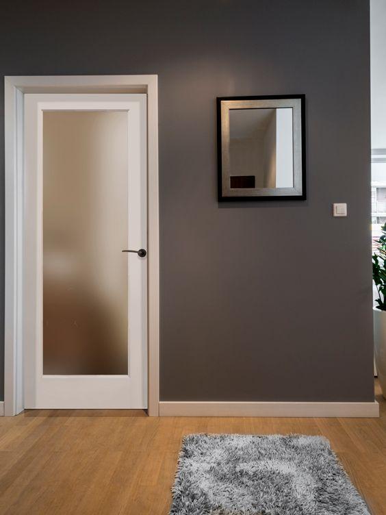 Primed satin 1 lite door by mastercraft interior doors pinterest interior door doors and for Mastercraft prehung interior doors