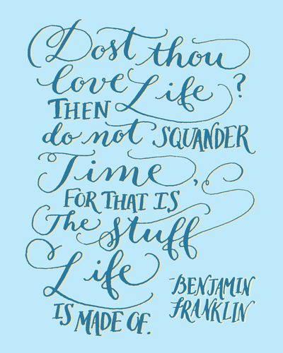 The Office Ben Franklin Quotes: Ben Franklin Quote Art Print By Kelly Cummings