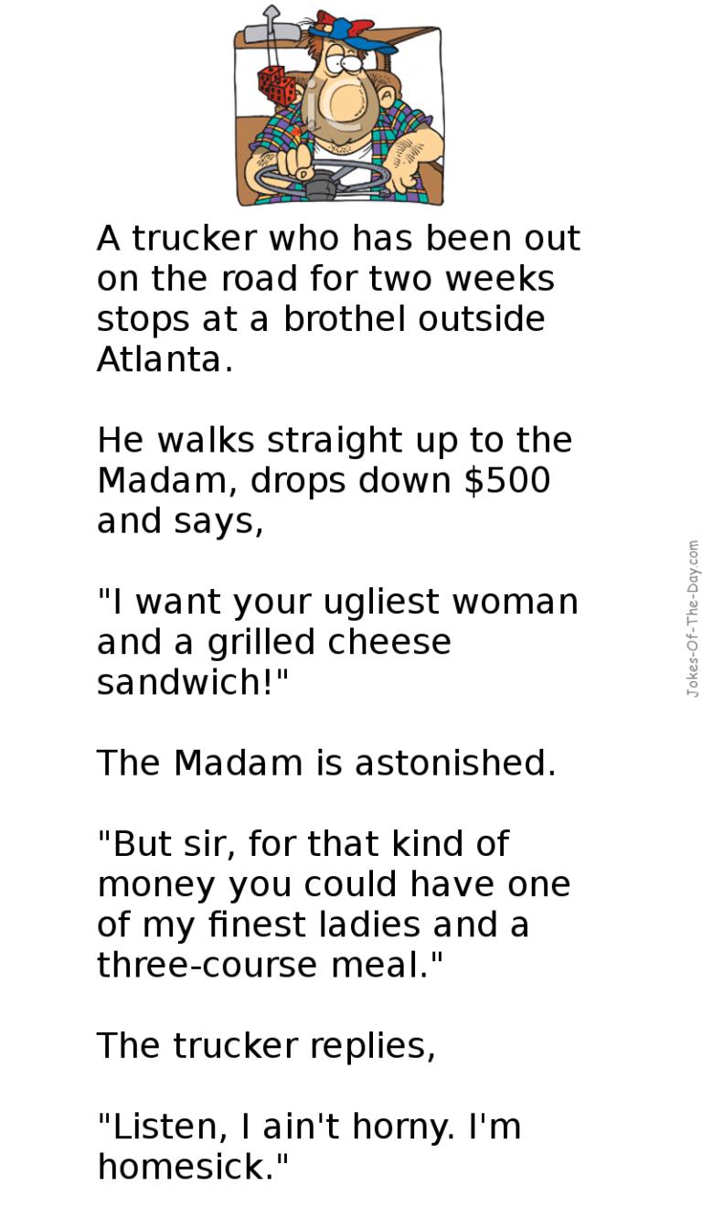 The Truck Driver | 2 funny | Jokes, Reddit funny, Funny jokes