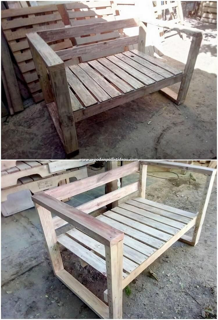 Wood Pallet Garden Bench Is The Demand Of Each Single House And When That Bench