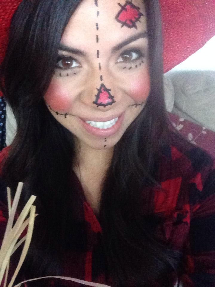 pinterest inspired scarecrow makeup! :) | Halloweeeeen ...