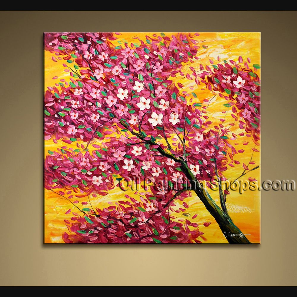Paintings For The Living Room Affortable Original Impressionist Palette Knife Oil Painting On