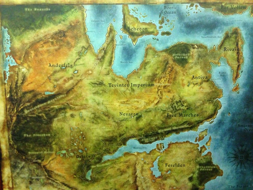 Map from Dragon Age (I think) | cartography | Dragon age ...