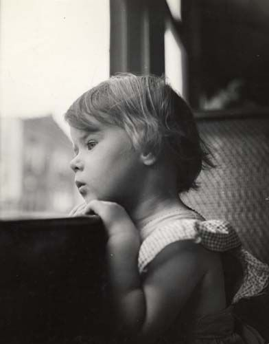 Woman Looking Out Window Black And White