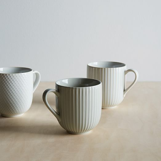 Textured Mugs (Set of 4)