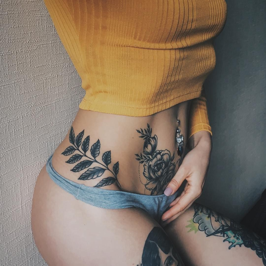 Attractive Lower Stomach Tattoos For Girls Piercings Tattoos