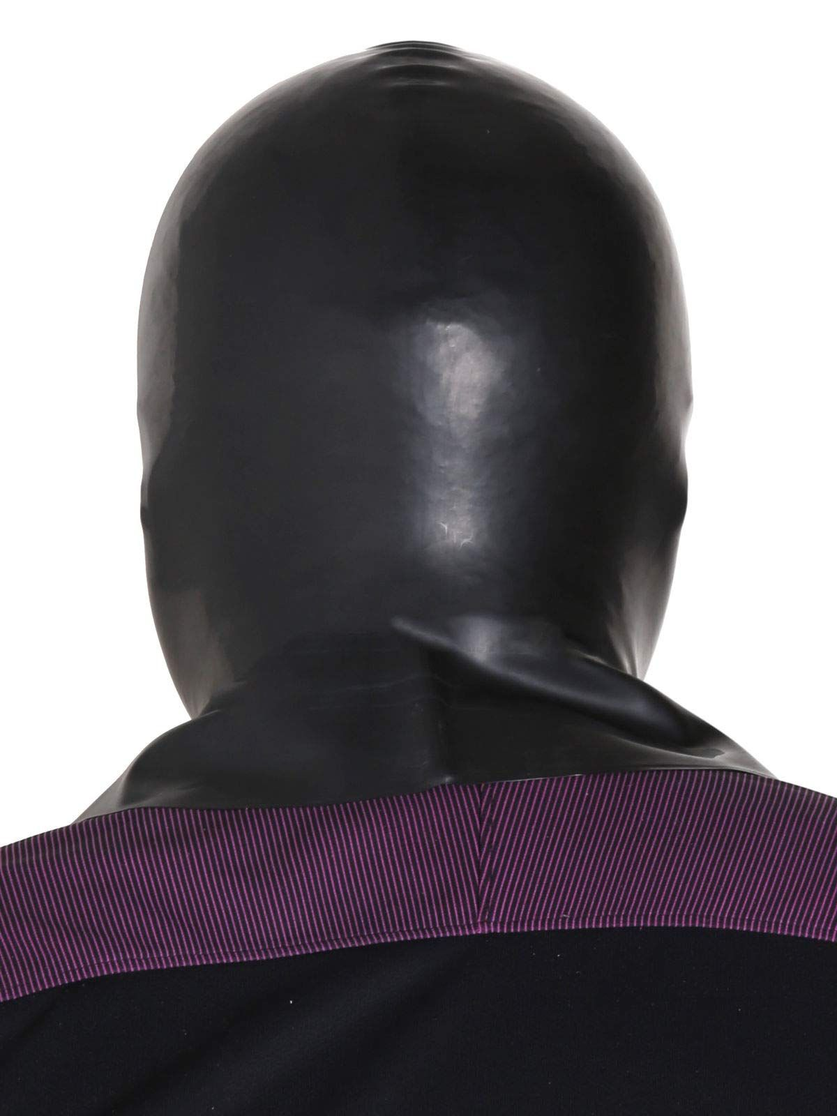 Size M Spandex eyes and mouth.. Pink Spandex Wet look Mask fancy dress Hood