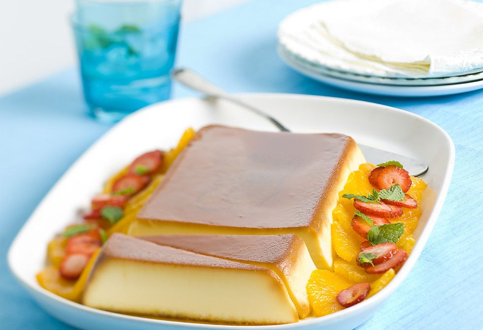 Turkish Flan Sweetened Condensed Milk Recipes Vanilla Desserts Flan Recipe