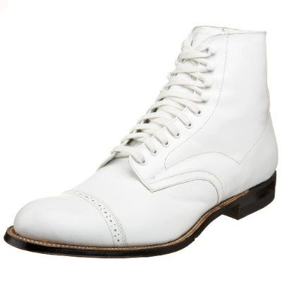 Wonderlijk Stacy Adams Men's Madison Cap-Toe Boot,White,6.5 The knick TU-85
