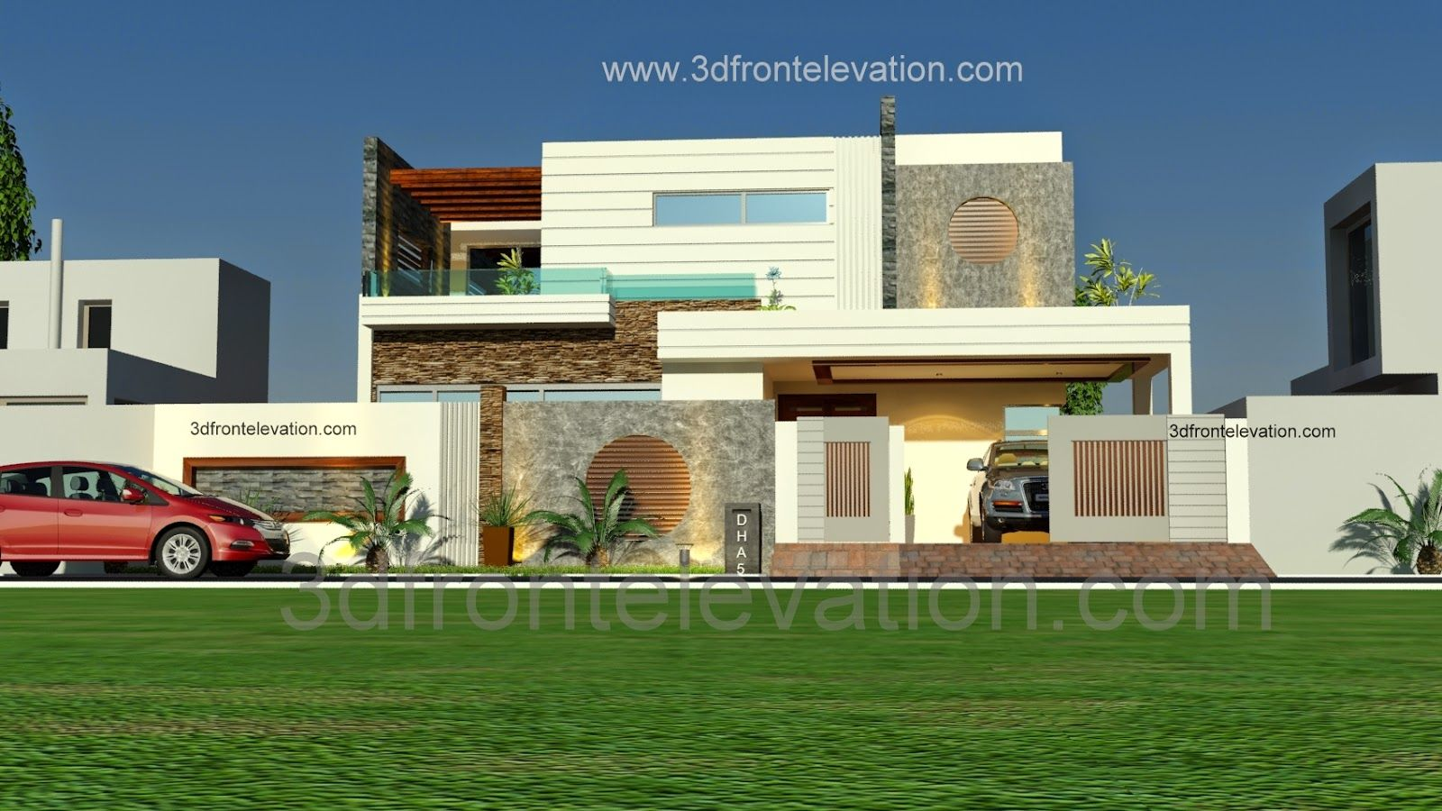 Las Vegas Mediterranean Front Elevation Design Ideas 1