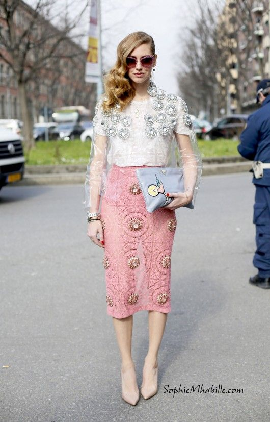 #chiaraferragni #theblondesalad #milan #fashionweek #mfw #mbfw #women #fashion #women #style #look #outfit #cool #chic #lace #dentelle #pink #pastel #streetfashion #streetstyle #street #women #mode #femme #moda by #sophiemhabille