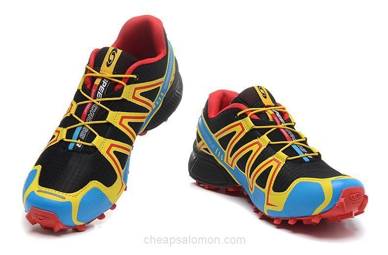 49035e3de4 V7024 Salomon Speedcross 3 CS Mens Trail Running Shoes Black Yellow ...