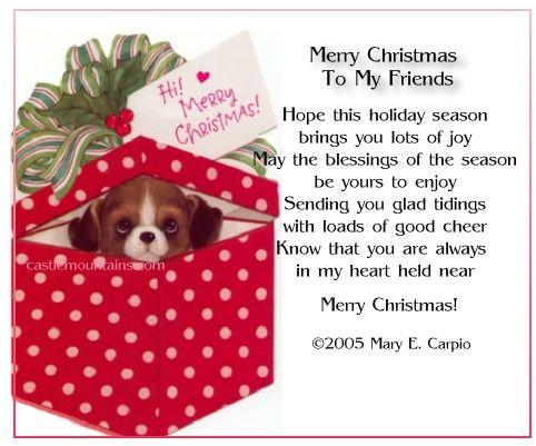 christmas family and friends poems | SodaHead.com - SPAZ is Back ...