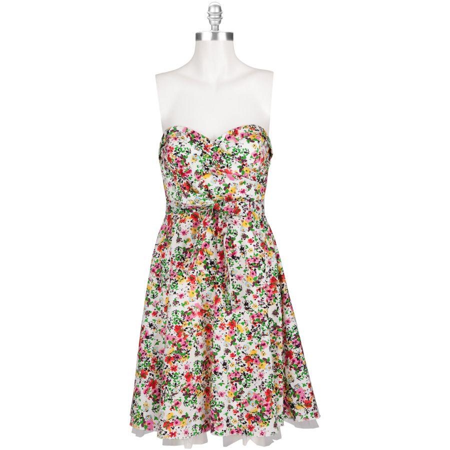 Ruby Rox Juniors Strapless Floral Print Dress Vonmaur Strapless Floral Print Dress Dresses Floral Print Dress [ 900 x 900 Pixel ]
