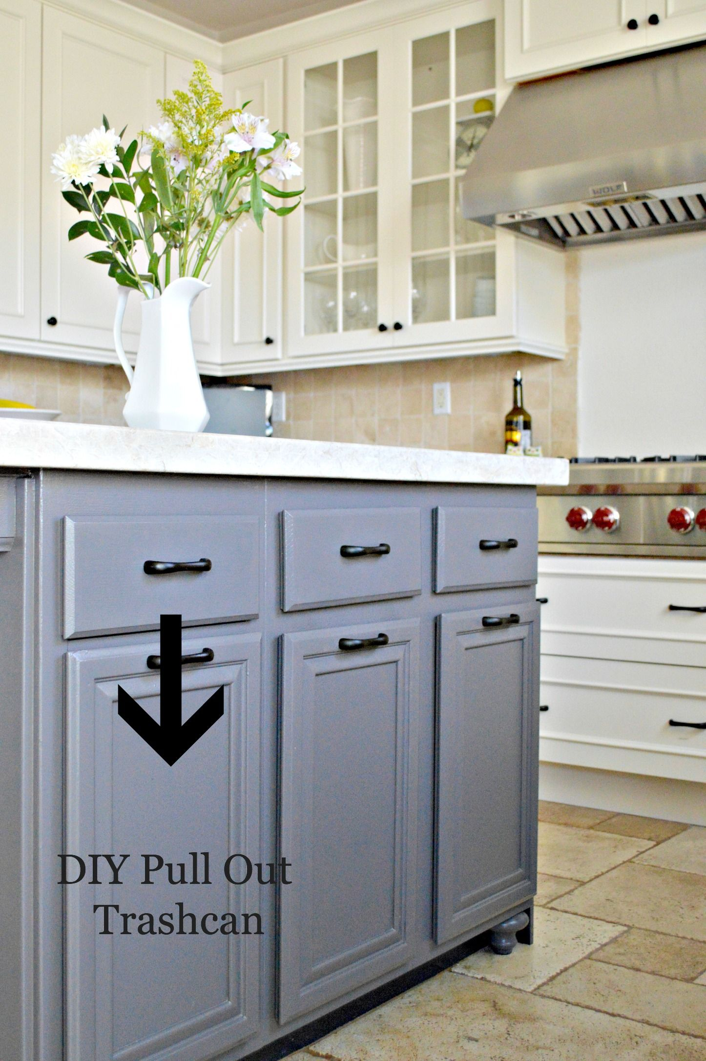 Turn a door and a drawer into a pull out trash can | kitchen stuff ...