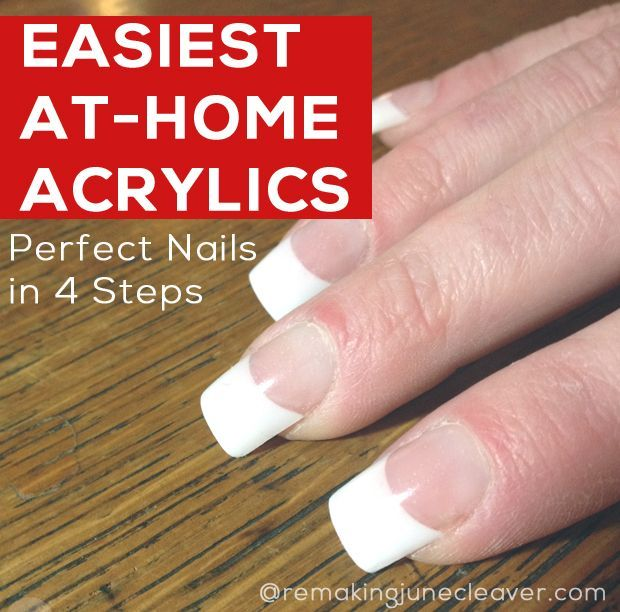 Easiest Diy Acrylic Nails Diy Acrylic Nails Acrylic Nails At Home Luxury Nails