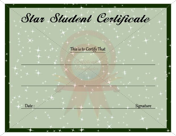 Star Student Certificate Template | KIDS CERTIFICATE TEMPLATES ...