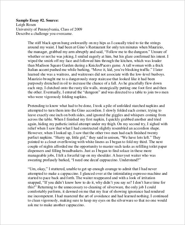 Best college admissions essays harvard