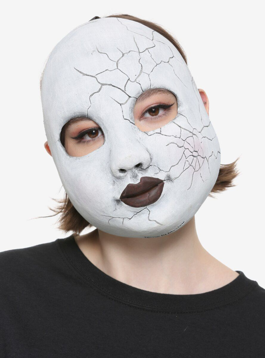 Cracked Doll Mask In 2020 Halloween Makeup Clown Mask Drawing Doll Face