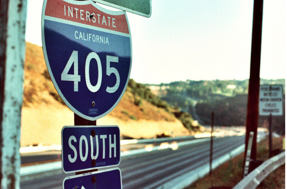 I've never seen the 405 so empty