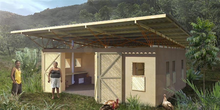 Aider la communauté de Guayabal à construire son prototype de maison