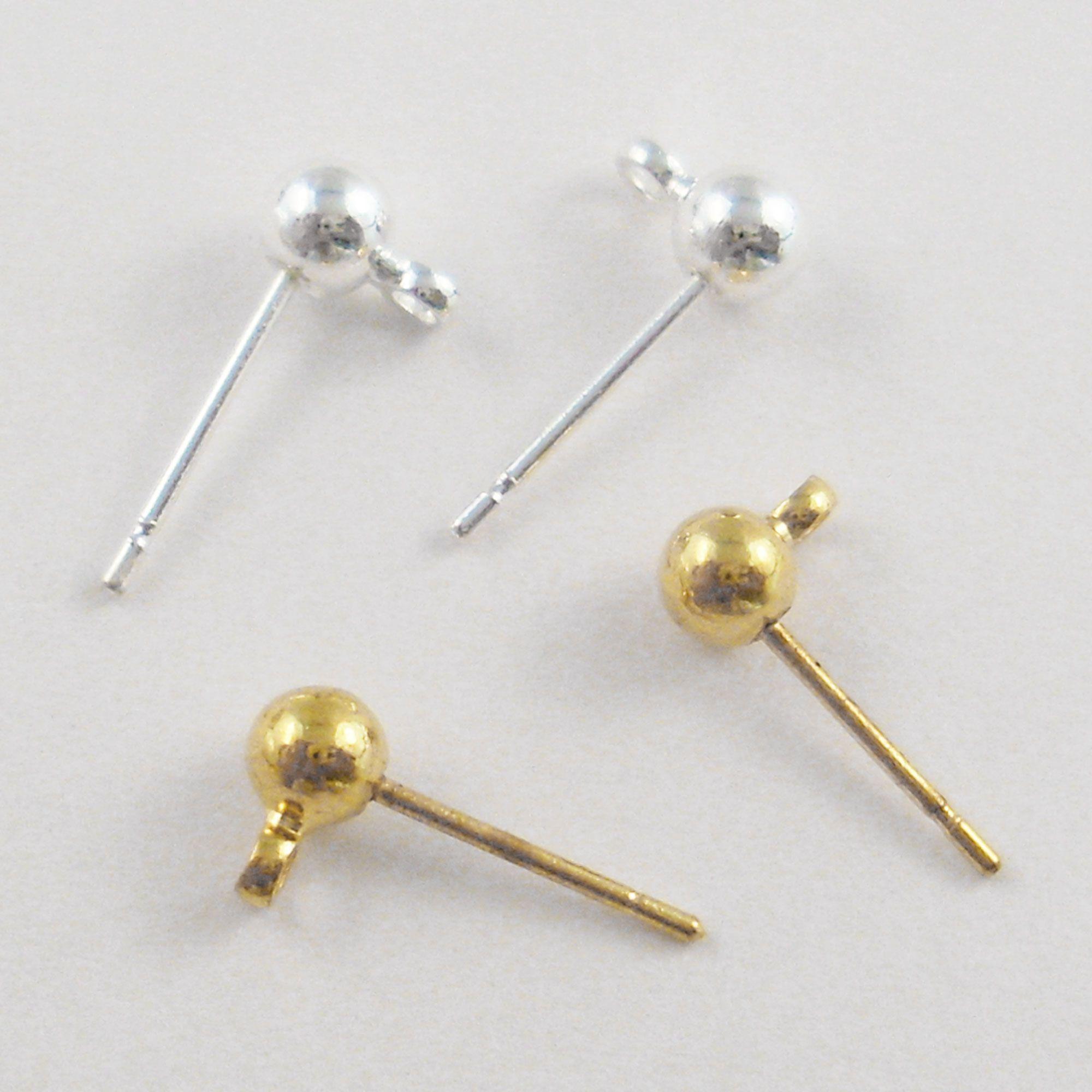 1 Paar Lange Silber Ohrstecker Ohrringe Perle Ohr-Link-Ohrstecker Schmuck Neu