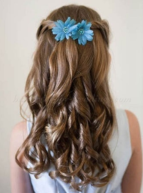 flowergirl hairstyle   pauline's   pinterest   frisur
