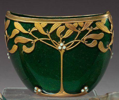 Fine and Rare Mont-Joye Art Nouveau Glass Vase | JV