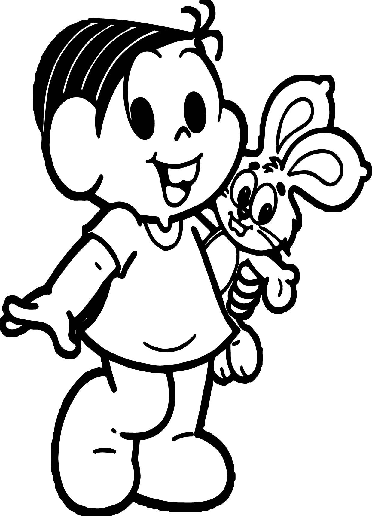Awesome Turma Da Monica And Bunny Toy Coloring Page Turma Da Monica