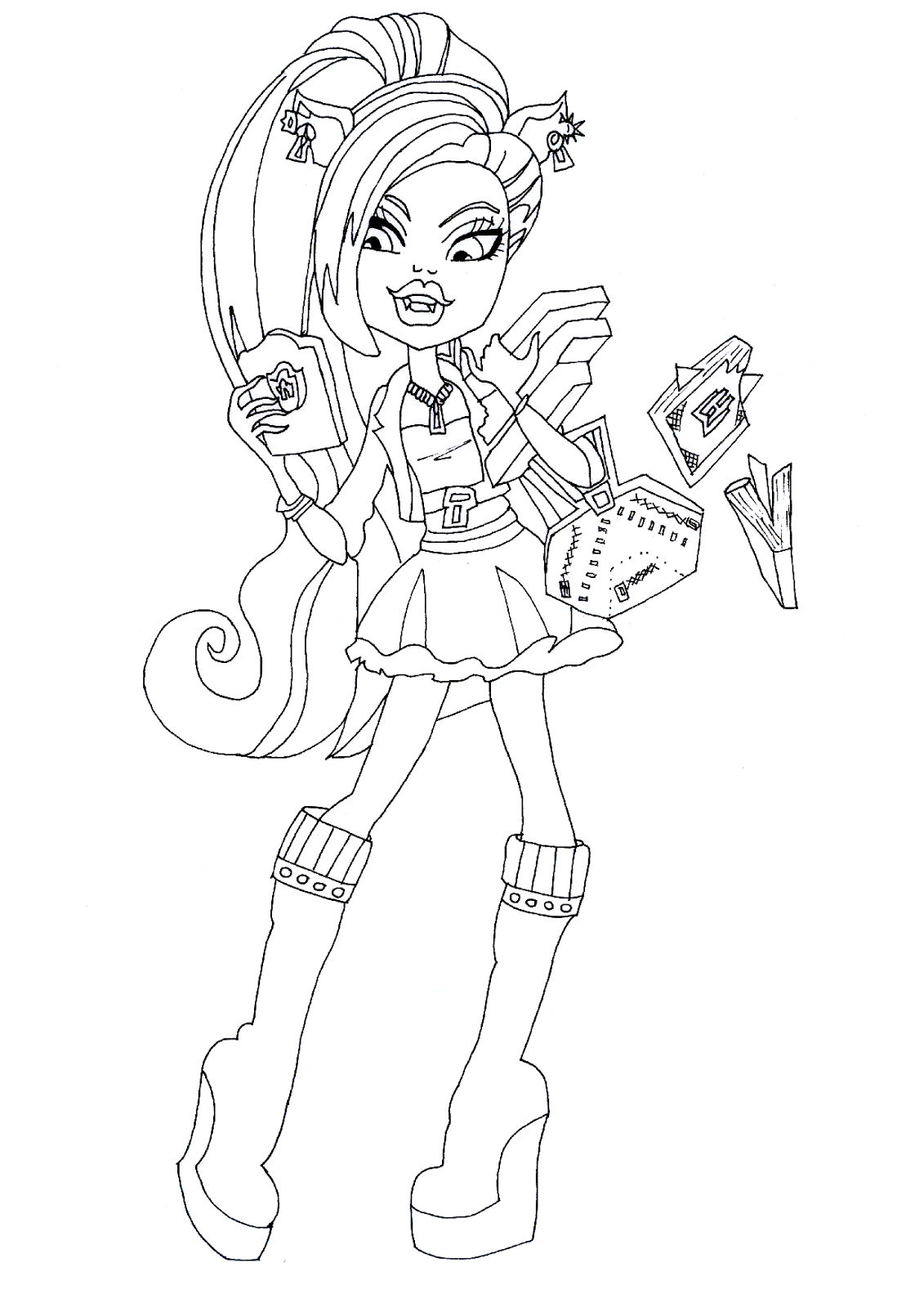 Free Printable Monster High Coloring Pages: Clawdeen Wolf ...