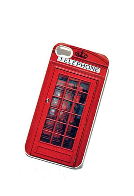 iPhone Case British Phone Box Booth iPhone by TheCuriousCaseLLC, $18.00