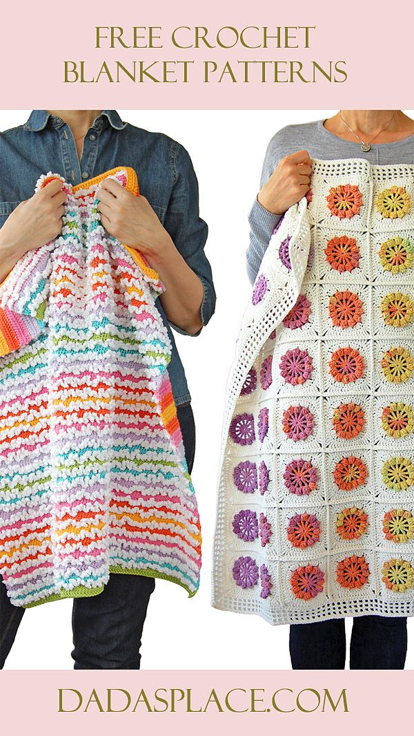 Free Crochet Blanket Patterns by Dada's place