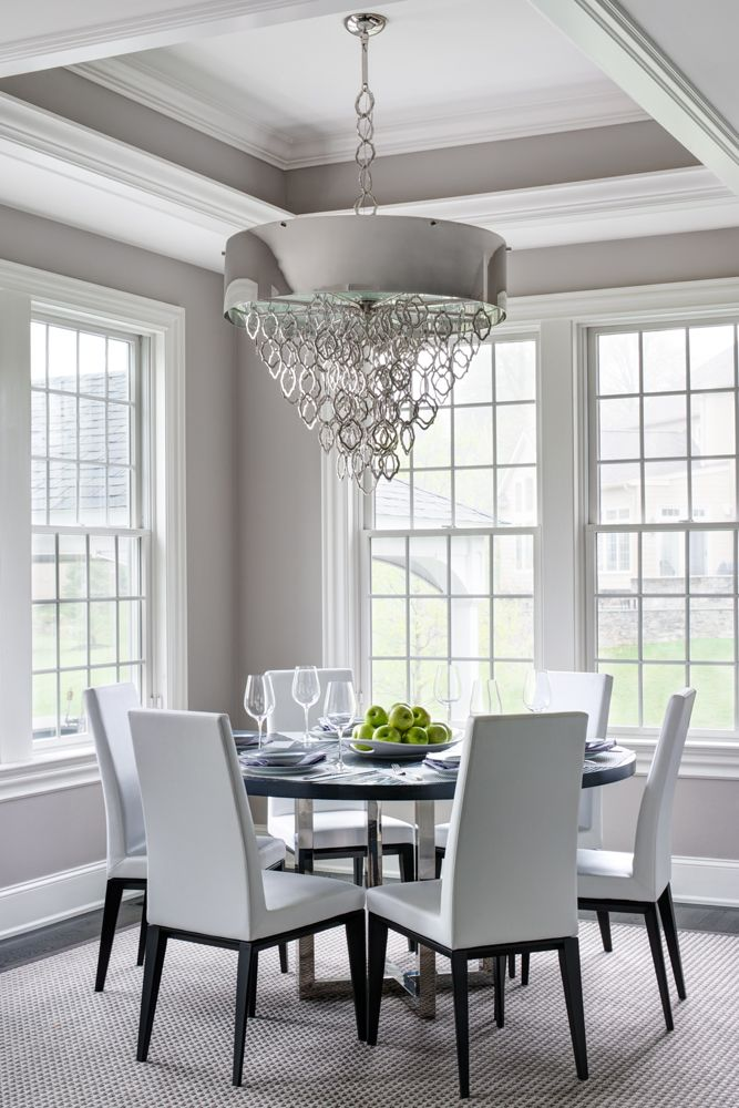 Main Line Modern Interior Design Dining Room Ceiling Tray