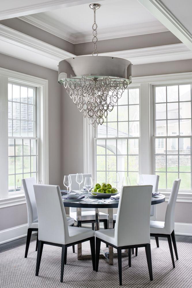 Semerjian Interiors  Breakfast room with Tray Ceiling