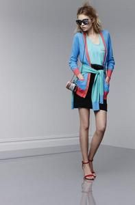 10 Red Hot Valentines Looks: Rainbow Bright - Valentine's Day is a day to celebrate, so be festive and bright in a color blocked cardigan. Target Prabal Gurung color block cardigan