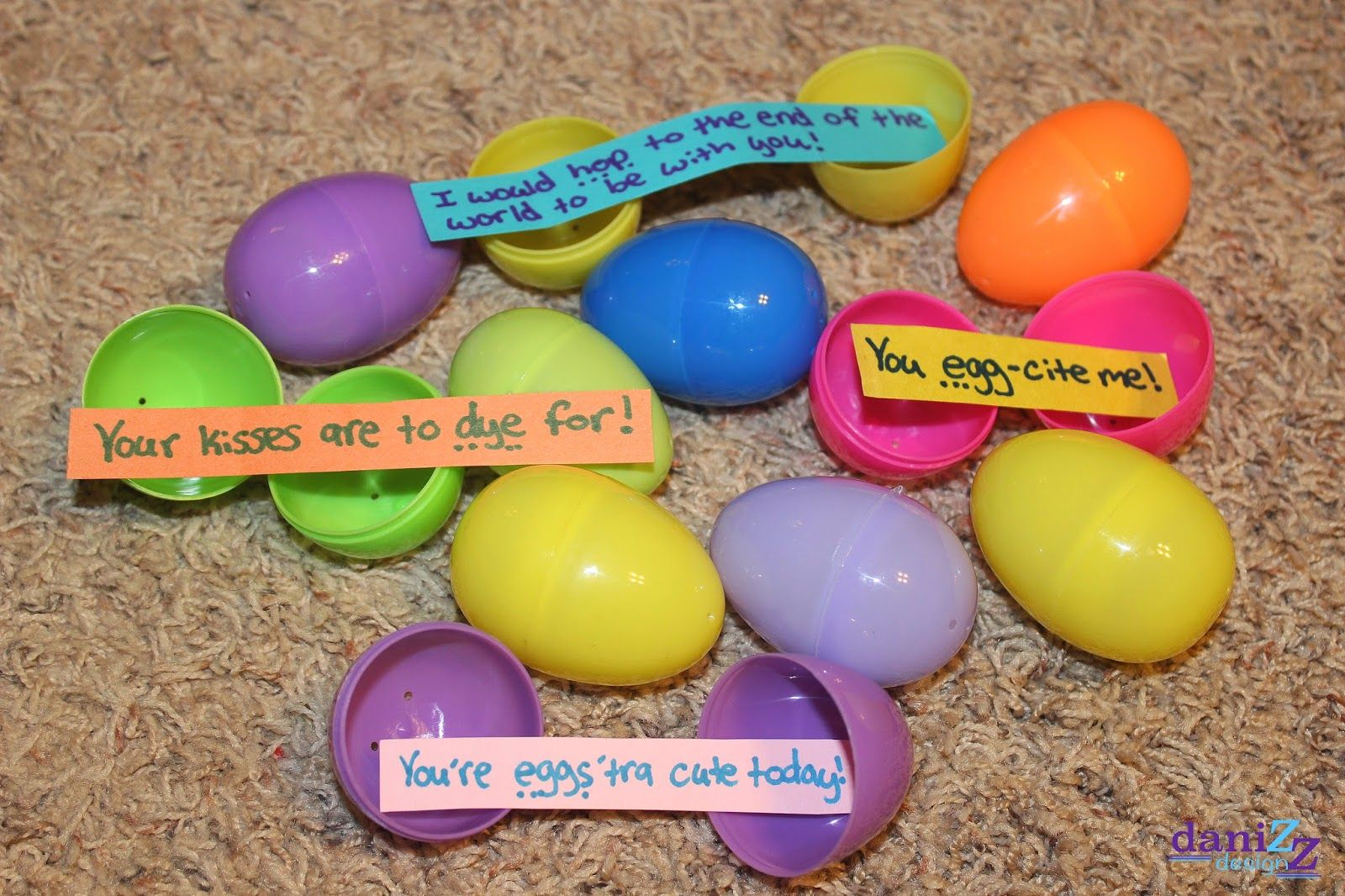 Love note easter eggs fill the eggs with candy and cute easter love note easter eggs fill the eggs with cute notes and candy and hide them for your man cute and cheap gift easter sayings negle Choice Image