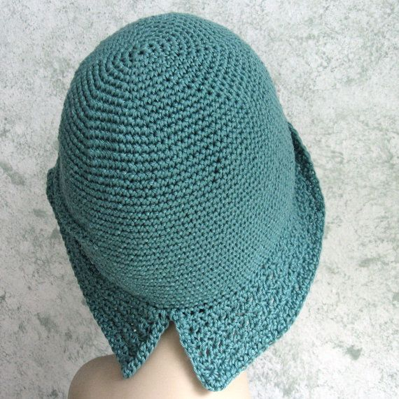 Mujeres Crochet sombrero patrón aleta Cloche con por kalliedesigns ...