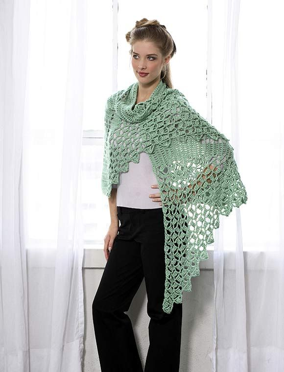Celtic Knot Shawl To Crochet Free Pattern Someone With More
