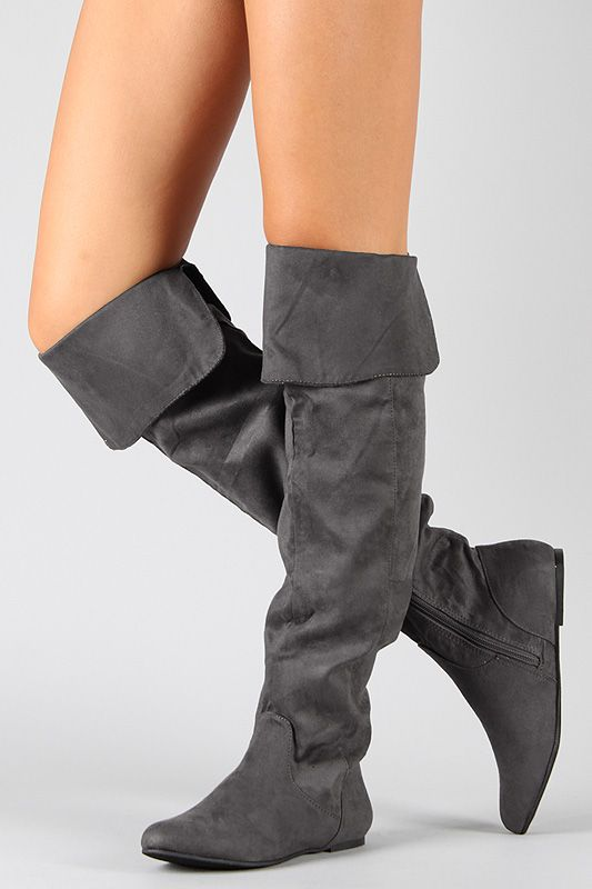 c7b3f761f564f Qupid Proud-09 Suede Cuff Slouchy Thigh High Boot $28.80 | Shoes ...