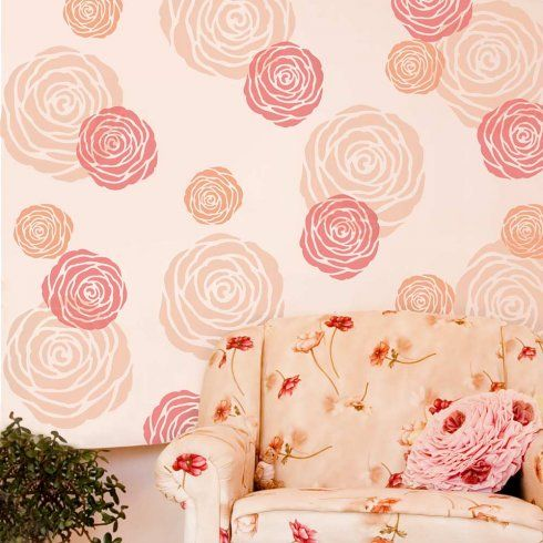 Rose Stencil For Walls From Cutting Edge Stencils Http://Www
