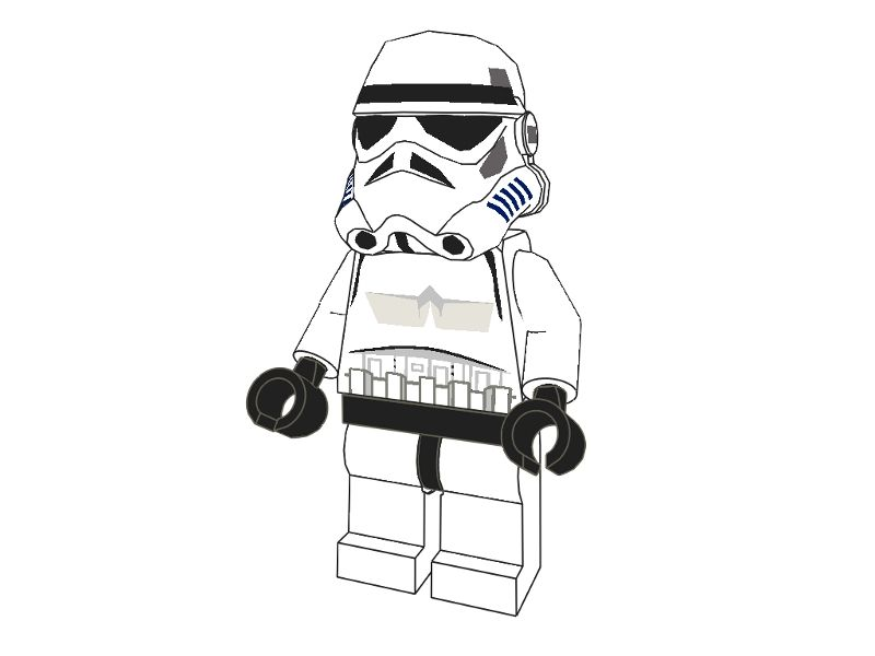 3D Lego Models - Colouring - Lego Stormtrooper downloads | Education ...